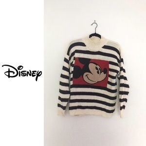 Vintage Mickey Mouse Mock Turtle Neck Sweater
